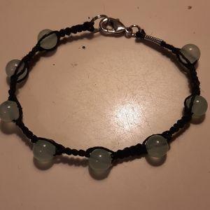Hand made Jade bead bracelet